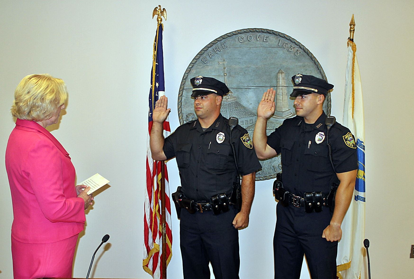 Officers Dunlea and Brady Swearing In