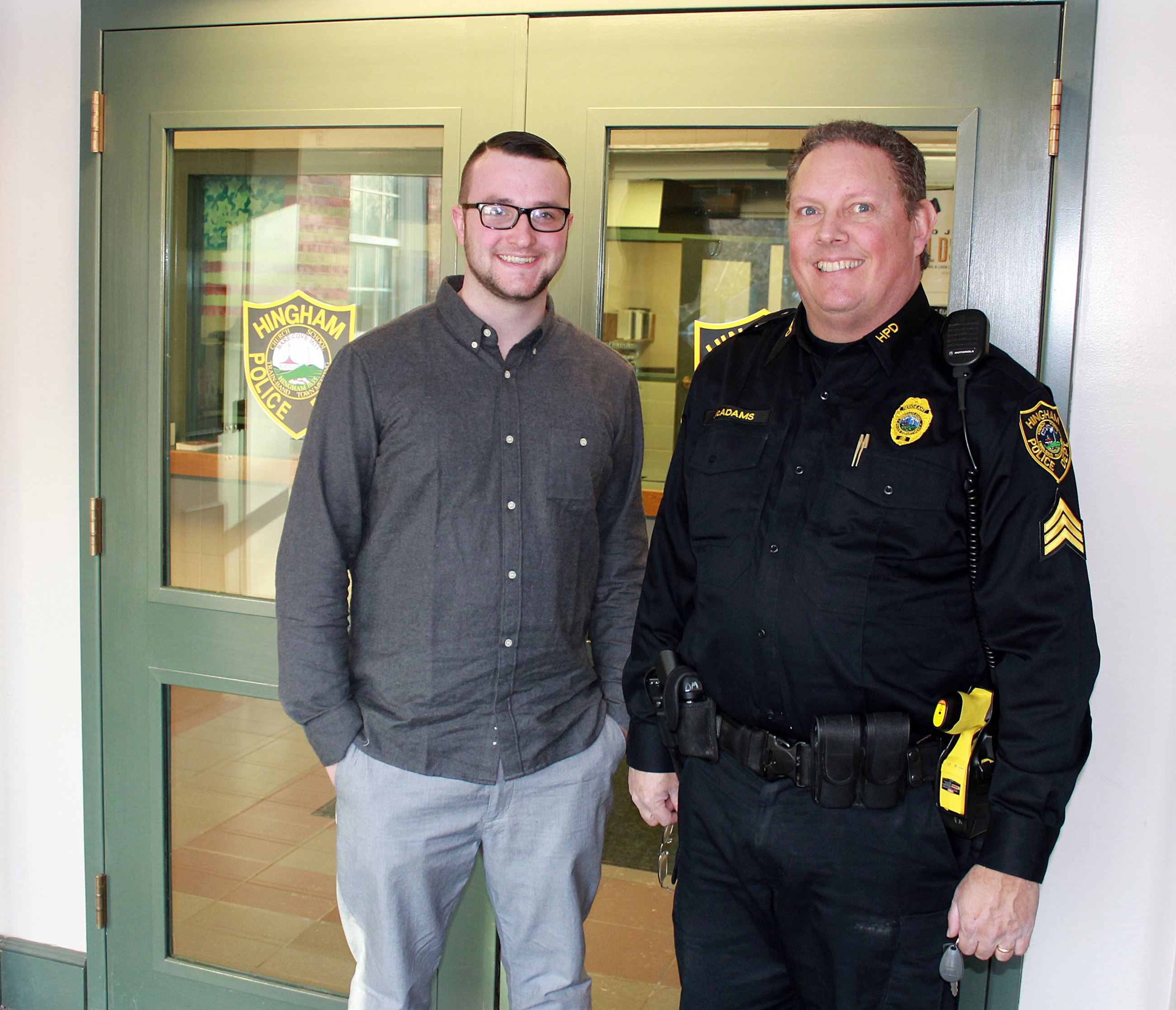 Intern with Sgt. Darren McAdams