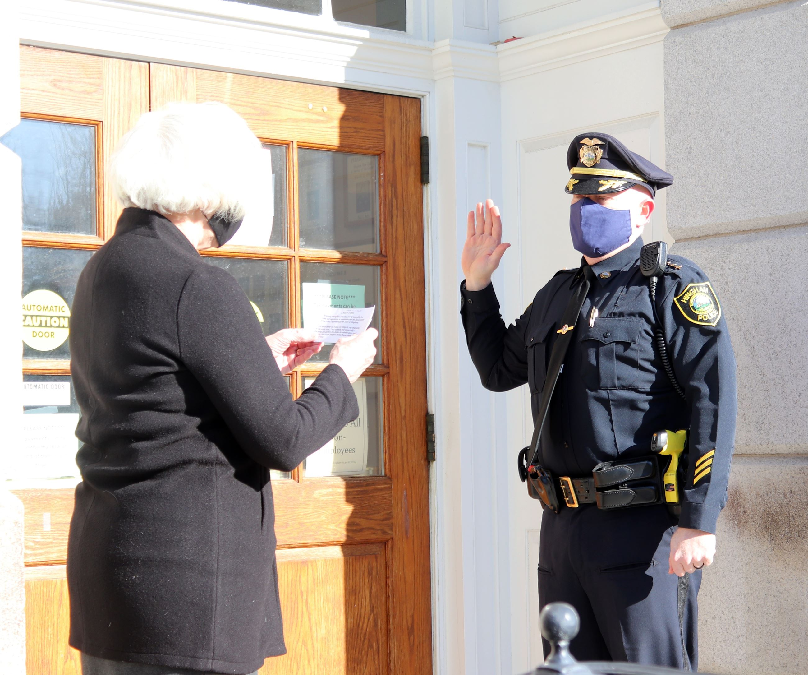 Deputy Chief Ryan O'Shea Being Sworn In